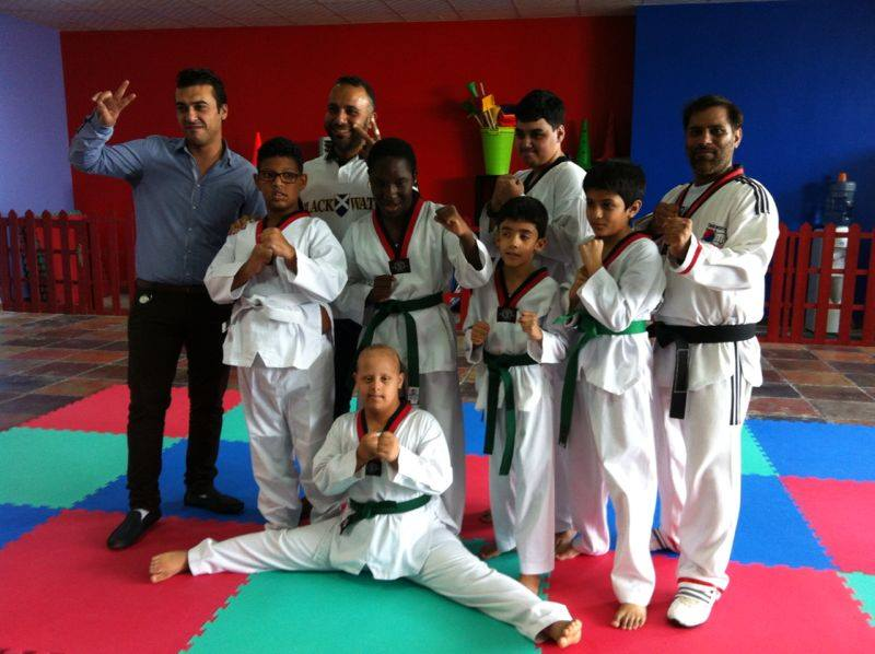 Martial arts training at the Center