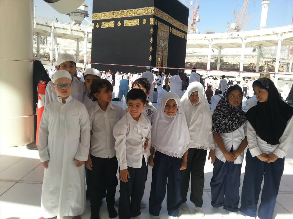 The children on a visit to Makkah