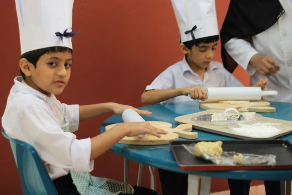 Baking activity with the children.